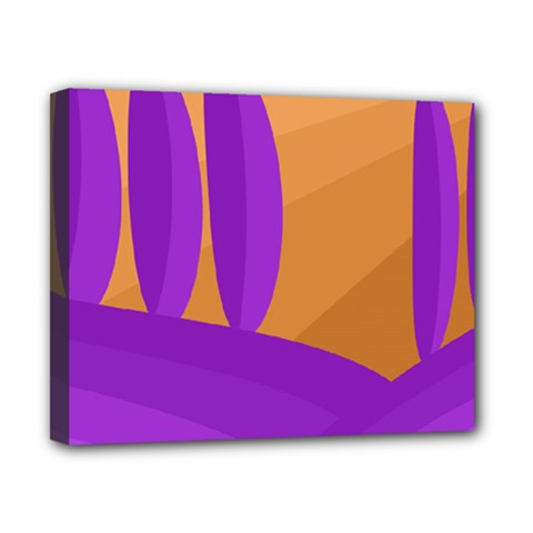 Orange And Purple Landscape Canvas 10  X 8  by Valentinaart