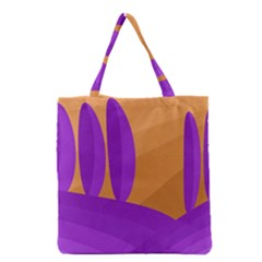 Orange And Purple Landscape Grocery Tote Bag by Valentinaart