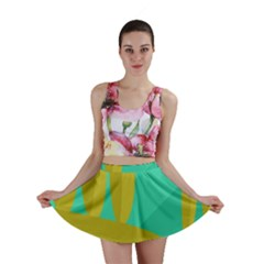 Green And Yellow Landscape Mini Skirt by Valentinaart