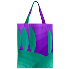Purple And Green Landscape Zipper Classic Tote Bag by Valentinaart