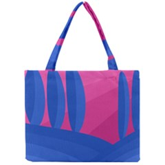 Magenta And Blue Landscape Mini Tote Bag by Valentinaart