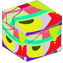 Colorful abstraction by Moma Storage Stool 12   by Valentinaart