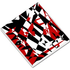 Red, Black And White Chaos Small Memo Pads by Valentinaart