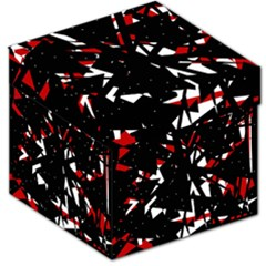 Black, red and white chaos Storage Stool 12   by Valentinaart