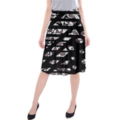 Gray Abstract Design Midi Beach Skirt by Valentinaart