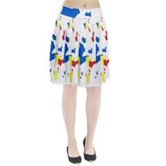 Flag Map of Orkney Islands  Pleated Skirt