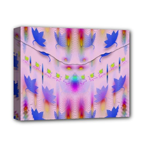 Rainbows And Leaf In The Moonshine Deluxe Canvas 14  X 11  by pepitasart