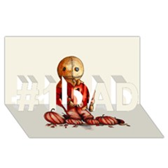 Trick R Treat Sam #1 Dad 3d Greeting Card (8x4)