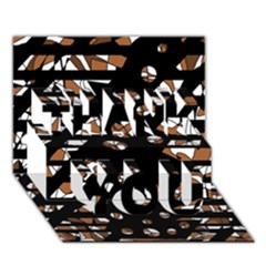 Brown Freedom  Thank You 3d Greeting Card (7x5)
