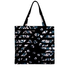 Blue Freedom Zipper Grocery Tote Bag by Valentinaart