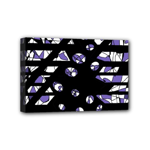 Purple Freedom Mini Canvas 6  X 4  by Valentinaart