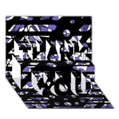 Purple Freedom Thank You 3d Greeting Card (7x5) by Valentinaart