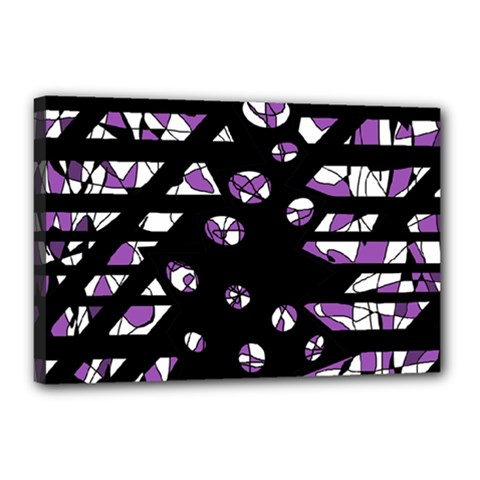 Violet Freedom Canvas 18  X 12  by Valentinaart