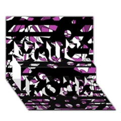 Magenta Freedom You Rock 3d Greeting Card (7x5) by Valentinaart