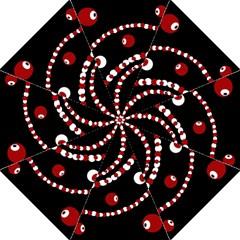 Red Pearls Hook Handle Umbrellas (medium) by Valentinaart