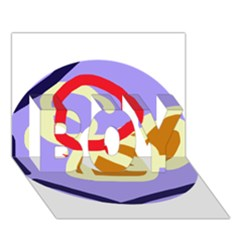 Abstract Circle Boy 3d Greeting Card (7x5) by Valentinaart