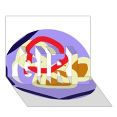 Abstract Circle Girl 3d Greeting Card (7x5) by Valentinaart