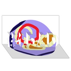 Abstract Circle #1 Dad 3d Greeting Card (8x4)