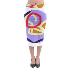 Abstract Circle Midi Pencil Skirt by Valentinaart