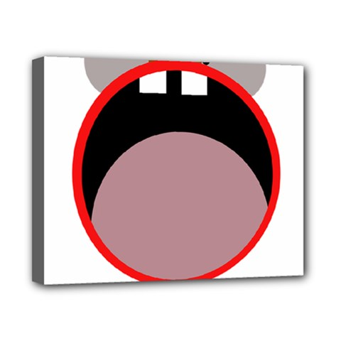 Funny Face Canvas 10  X 8  by Valentinaart
