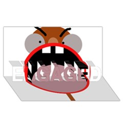 Funny Face Engaged 3d Greeting Card (8x4)