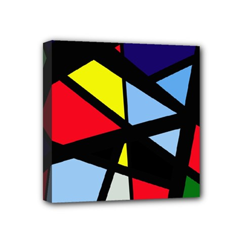Colorful Geomeric Desing Mini Canvas 4  X 4  by Valentinaart
