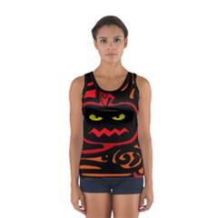 Halloween Pumpkin Women s Sport Tank Top  by Valentinaart