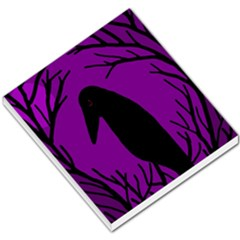 Halloween Raven   Purple Small Memo Pads by Valentinaart