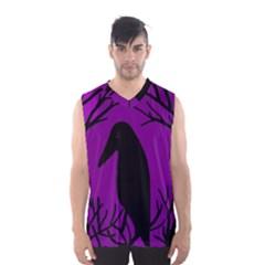 Halloween Raven   Purple Men s Basketball Tank Top by Valentinaart