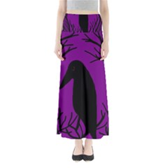 Halloween Raven   Purple Maxi Skirts by Valentinaart