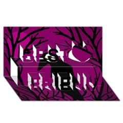 Halloween Raven   Magenta Best Friends 3d Greeting Card (8x4) by Valentinaart