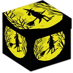 Halloween Witch   Yellow Moon Storage Stool 12   by Valentinaart