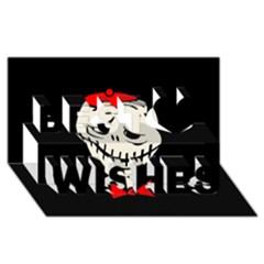 Halloween Monster Best Wish 3d Greeting Card (8x4) by Valentinaart