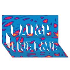 Blue And Red Neon Laugh Live Love 3d Greeting Card (8x4) by Valentinaart