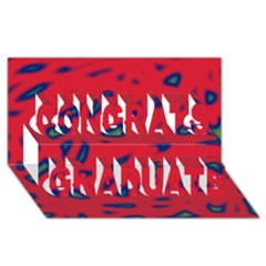 Red Neon Congrats Graduate 3d Greeting Card (8x4) by Valentinaart