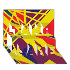 Hot Abstraction Take Care 3d Greeting Card (7x5)