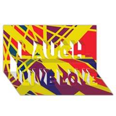 Hot Abstraction Laugh Live Love 3d Greeting Card (8x4) by Valentinaart
