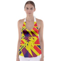 Hot Abstraction Babydoll Tankini Top