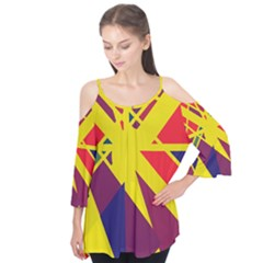 Hot Abstraction Flutter Tees