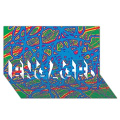 Colorful Neon Chaos Engaged 3d Greeting Card (8x4) by Valentinaart