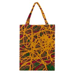 Yellow Neon Chaos Classic Tote Bag by Valentinaart