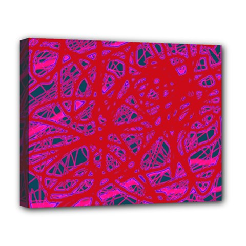 Red Neon Deluxe Canvas 20  X 16   by Valentinaart