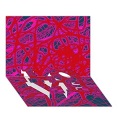 Red Neon Love Bottom 3d Greeting Card (7x5) by Valentinaart