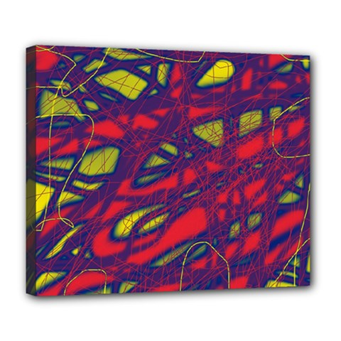 Abstract High Art Deluxe Canvas 24  X 20   by Valentinaart