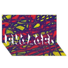 Abstract High Art Engaged 3d Greeting Card (8x4)