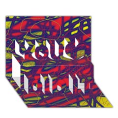 Abstract High Art You Did It 3d Greeting Card (7x5) by Valentinaart