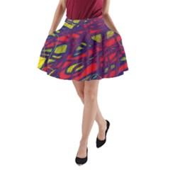 Abstract High Art A Line Pocket Skirt by Valentinaart