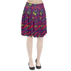 Abstract high art Pleated Skirt