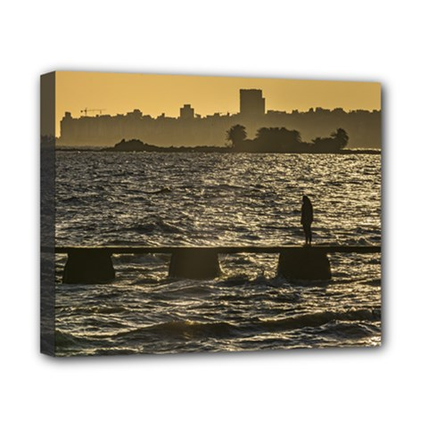 River Plater River Scene At Montevideo Canvas 10  X 8  by dflcprints