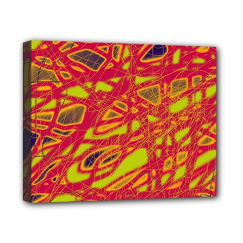 Orange Neon Canvas 10  X 8  by Valentinaart